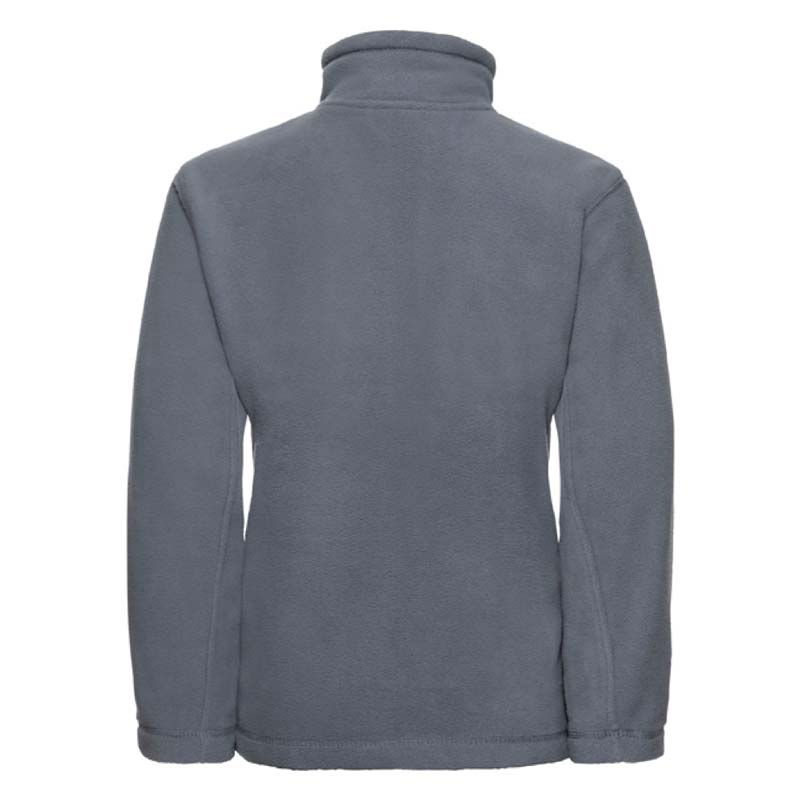 Kids Heavy Full Zip Outdoor Fleece - JFK870-grey-back