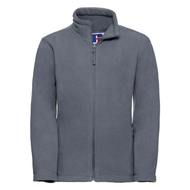 Kids Heavy Full Zip Outdoor Fleece - JFK870-grey