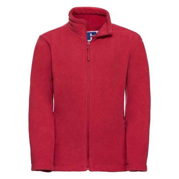 Kids Heavy Full Zip Outdoor Fleece - JFK870-red
