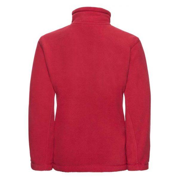 Kids Heavy Full Zip Outdoor Fleece - JFK870-red-back
