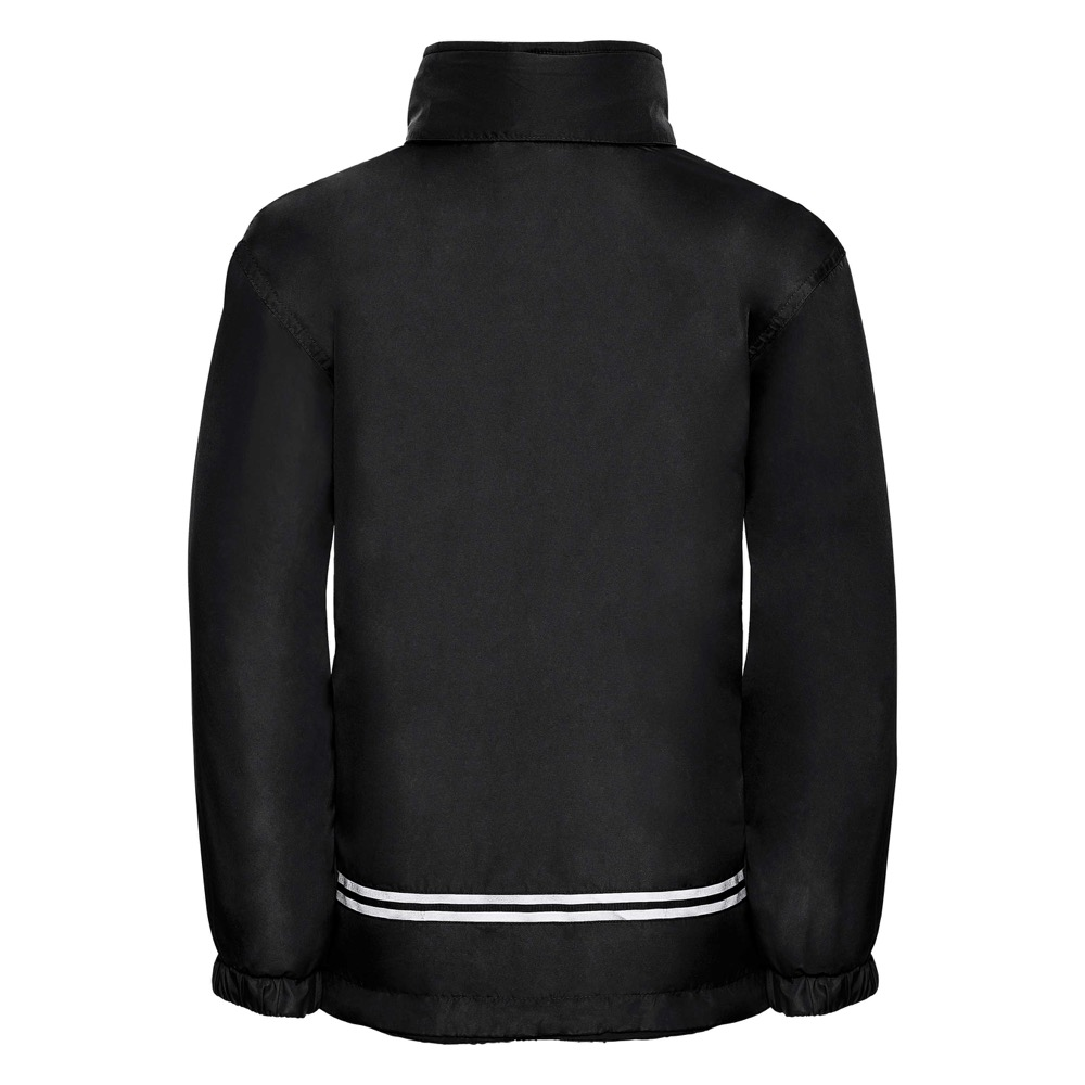 Kids Heavy Reversible Fleece - JFK875-black-poly-back