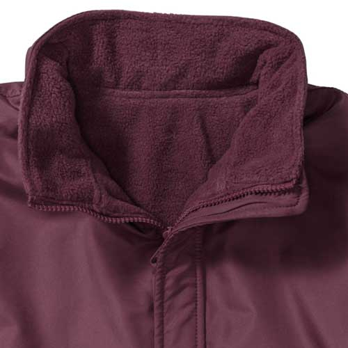 Kids Heavy Reversible Fleece - JFK875-burgundy