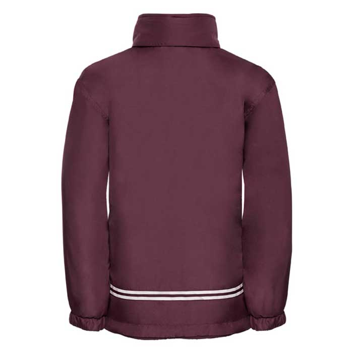 Kids Heavy Reversible Fleece - JFK875-burgundy-poly-back