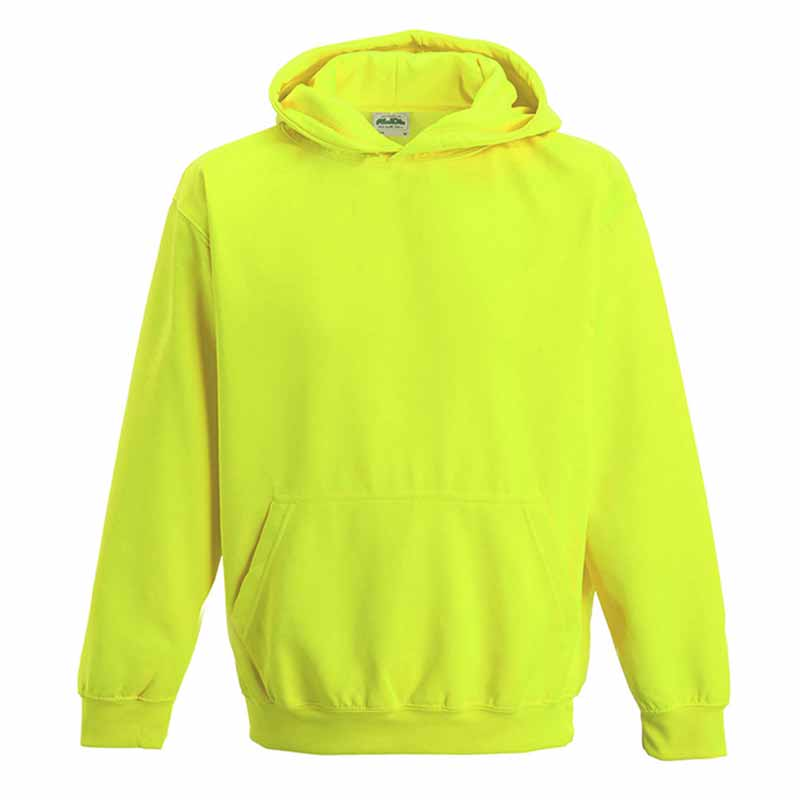 Kids Just Hoods Electric Hoodie - JH004B-yellow