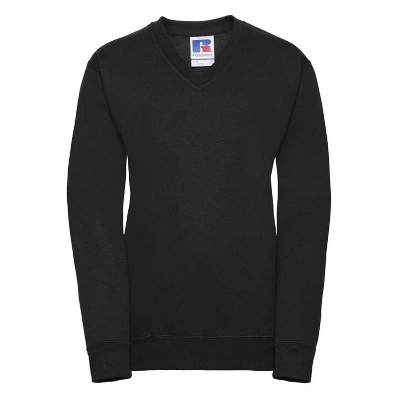 Kids V-Neck Set-In Sweatshirt - JSK272-black