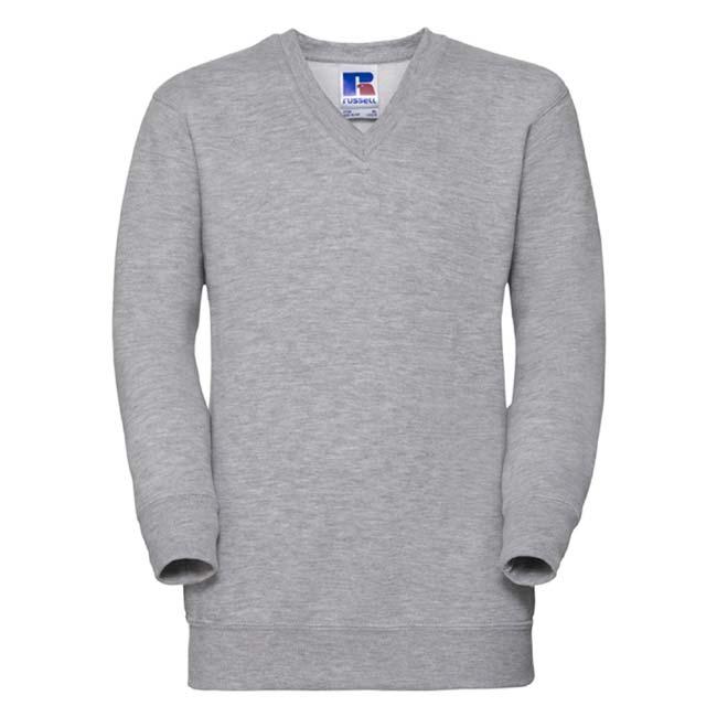 Kids V-Neck Set-In Sweatshirt - JSK272-light-oxford