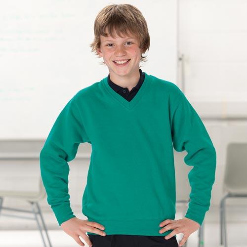 V-Neck Set-In Sweatshirt - JSK272