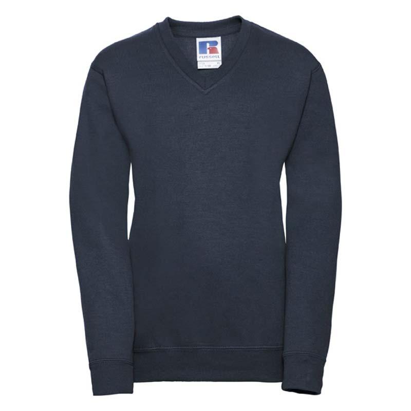 Kids V-Neck Set-In Sweatshirt - JSK272-navy