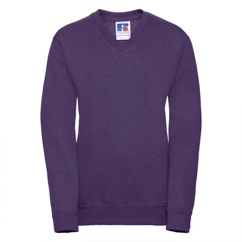 Kids V-Neck Set-In Sweatshirt - JSK272-purple