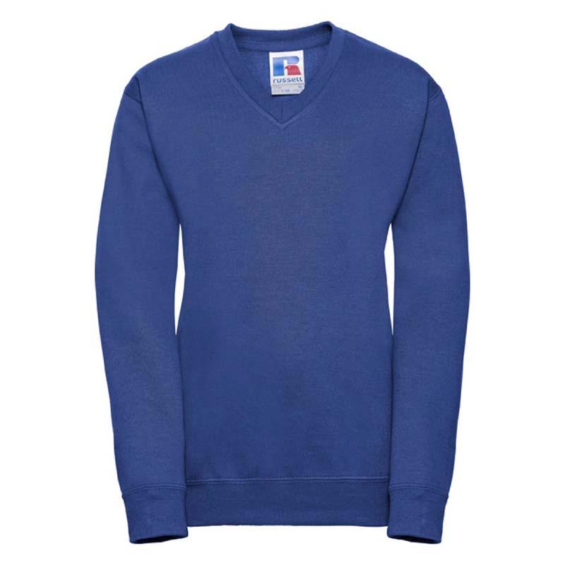 Kids V-Neck Set-In Sweatshirt - JSK272-royal