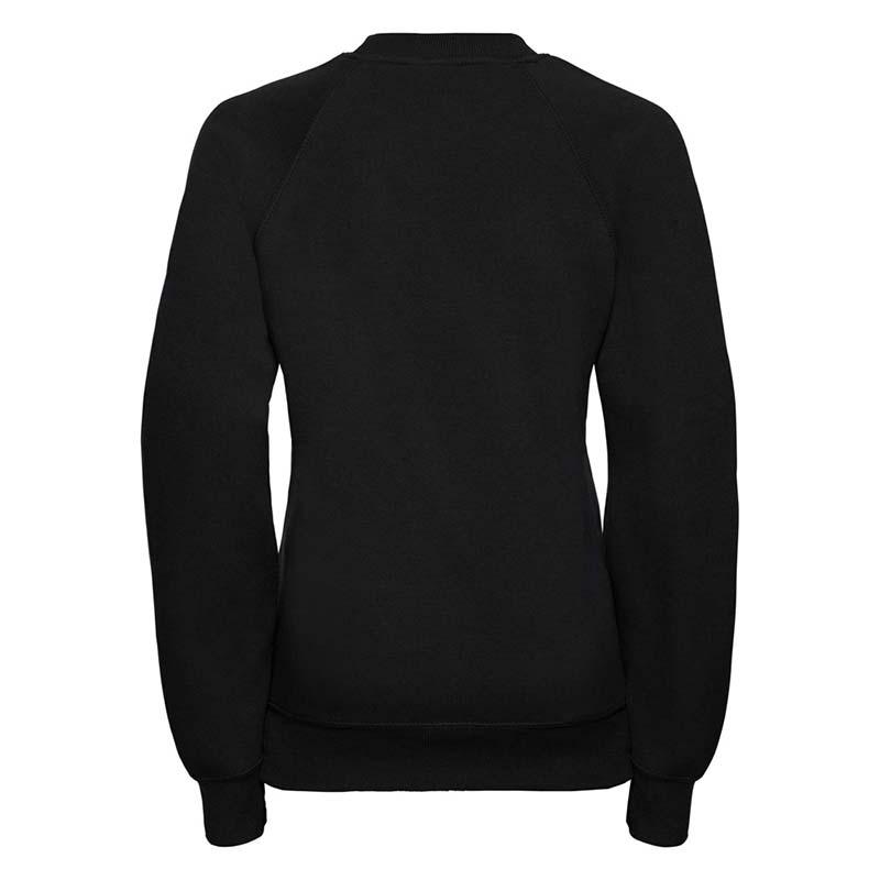 Kids Classic Raglan Crew Sweatshirt - JSK762-black-back