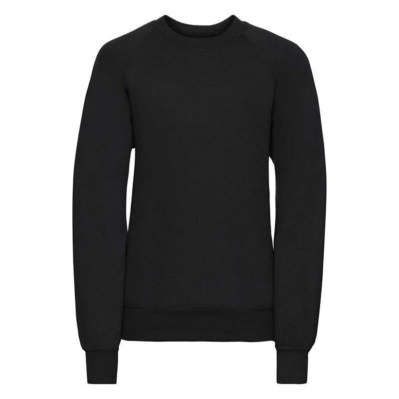 Kids Classic Raglan Crew Sweatshirt - JSK762-black