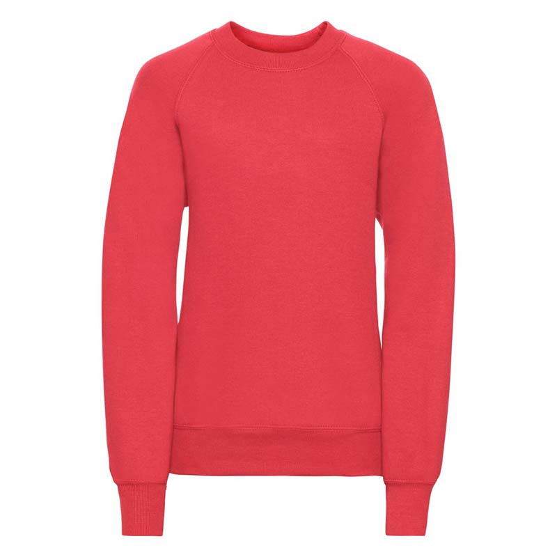 Kids Classic Raglan Crew Sweatshirt - JSK762-bright-red