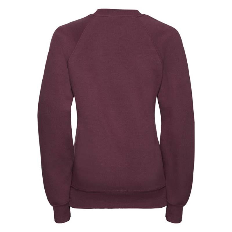 Kids Classic Raglan Crew Sweatshirt - JSK762-burgundy-back