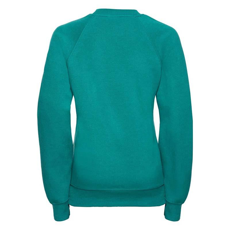Kids Classic Raglan Crew Sweatshirt - JSK762-emerald-back