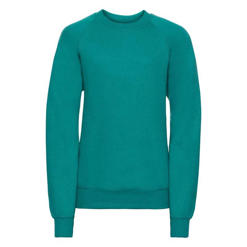 Kids Classic Raglan Crew Sweatshirt - JSK762-emerald