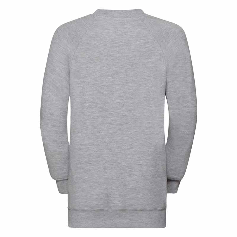Kids Classic Raglan Crew Sweatshirt - JSK762-light-oxford-back