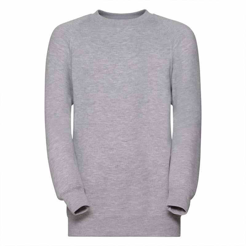 Kids Classic Raglan Crew Sweatshirt - JSK762-light-oxford