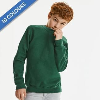 Kids Classic Raglan Crew Sweatshirt - JSK762