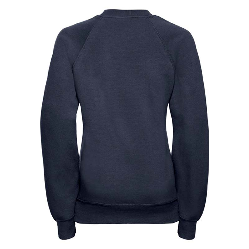 Kids Classic Raglan Crew Sweatshirt - JSK762-navy-back