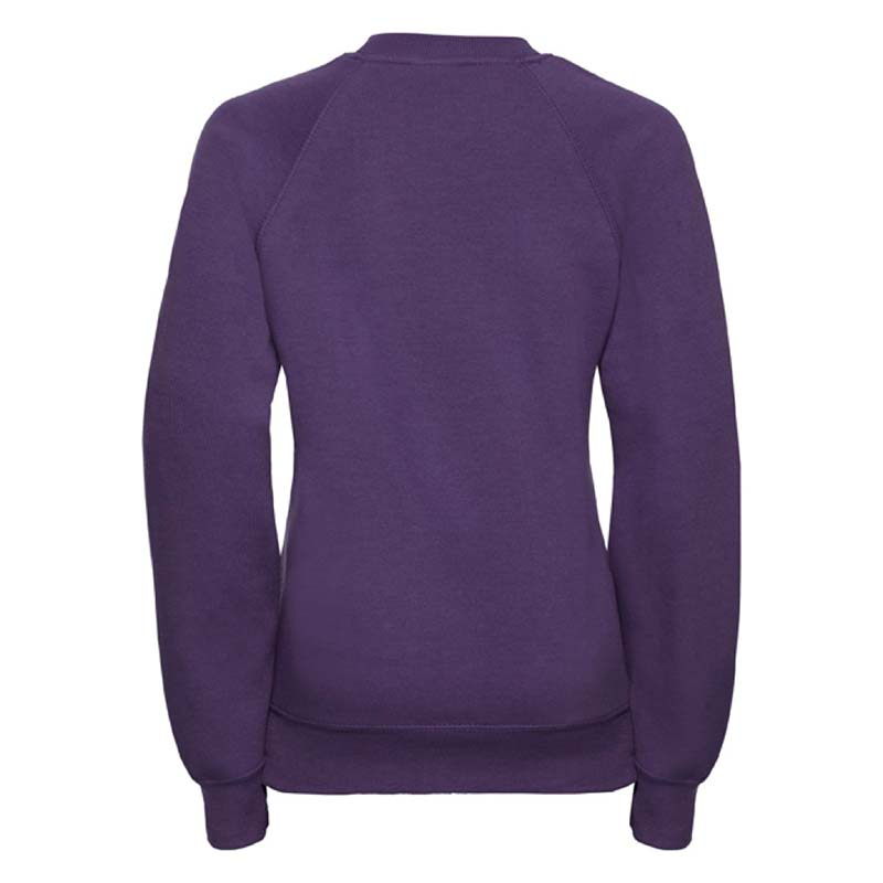 Kids Classic Raglan Crew Sweatshirt - JSK762-purple-back