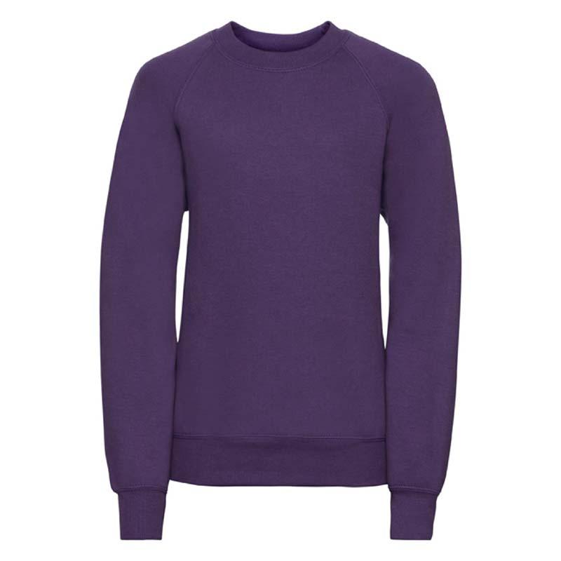 Kids Classic Raglan Crew Sweatshirt - JSK762-purple