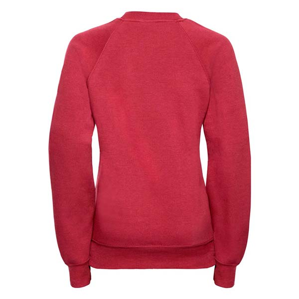 Kids Classic Raglan Crew Sweatshirt - JSK762-red-back