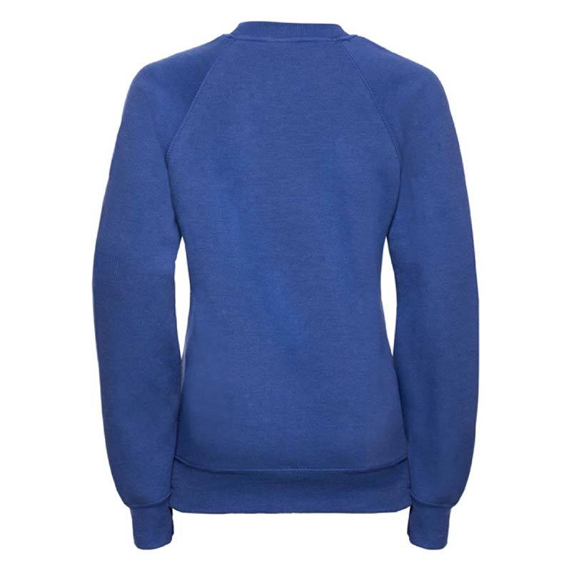 Kids Classic Raglan Crew Sweatshirt - JSK762-royal-blue-back