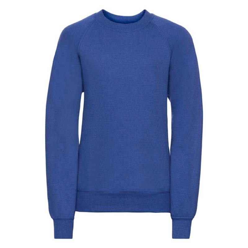Kids Classic Raglan Crew Sweatshirt - JSK762-royal-blue