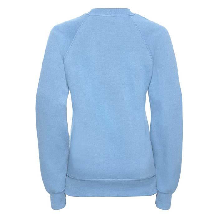 Kids Classic Raglan Crew Sweatshirt - JSK762-sky-back