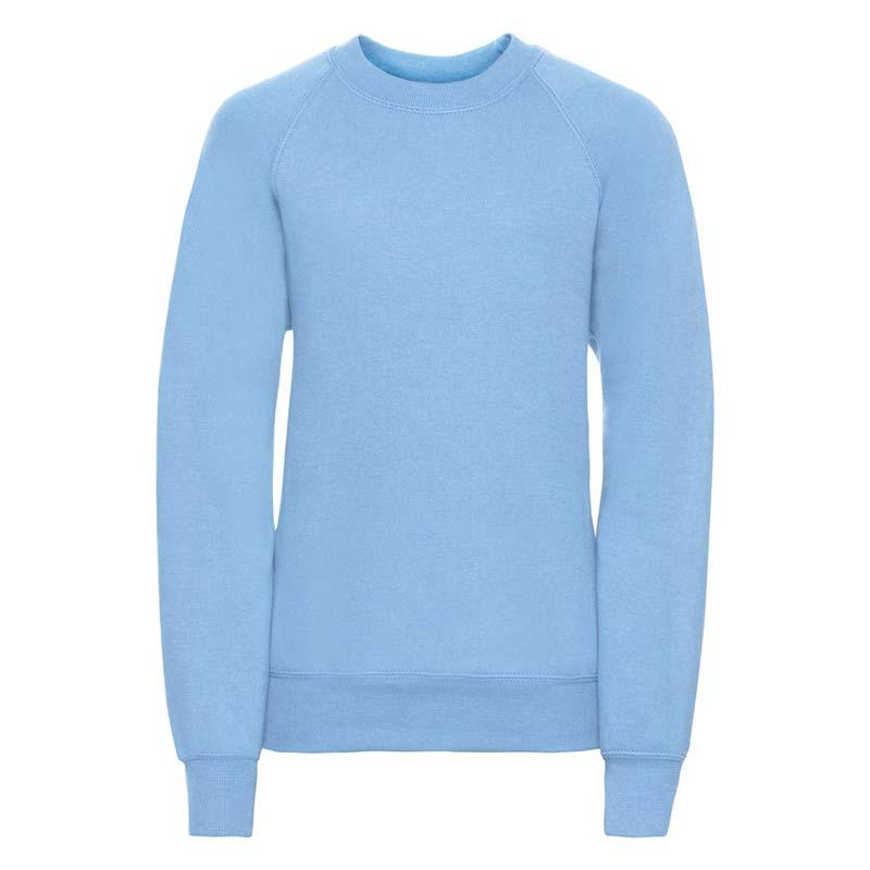 Kids Classic Raglan Crew Sweatshirt - JSK762-sky