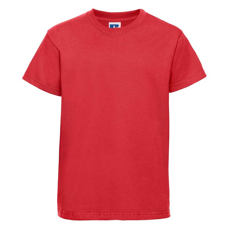 Kids Classic Crew T - JTK180-bright-red-front