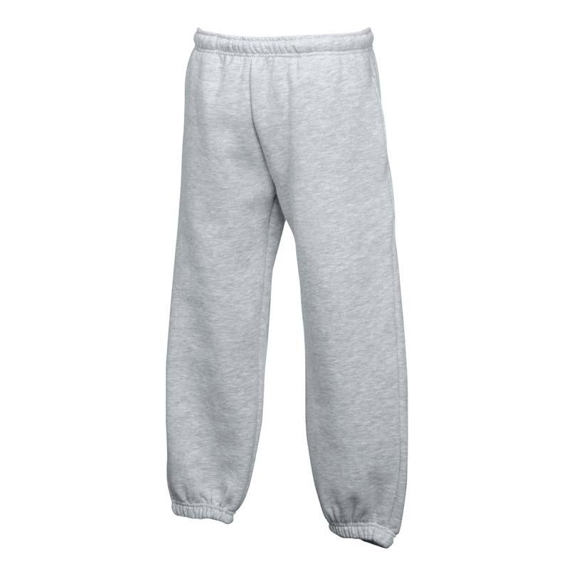 280g 80/80 CP Kids Classic Elasticated Cuff Jog Pants - SJK-64-051-grey