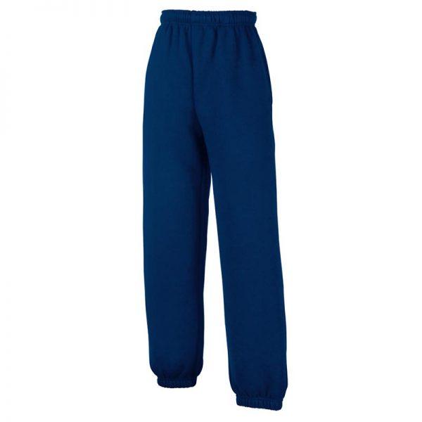280g 80/80 CP Kids Classic Elasticated Cuff Jog Pants - SJK-64-051-navy