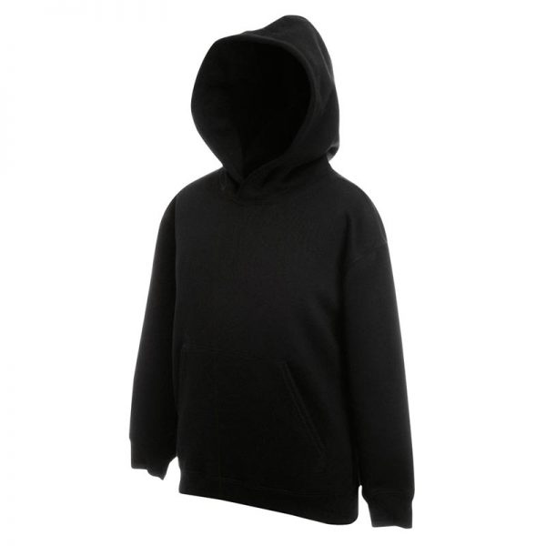 Kids Set-In Hooded Sweatshirt - SSHK-black