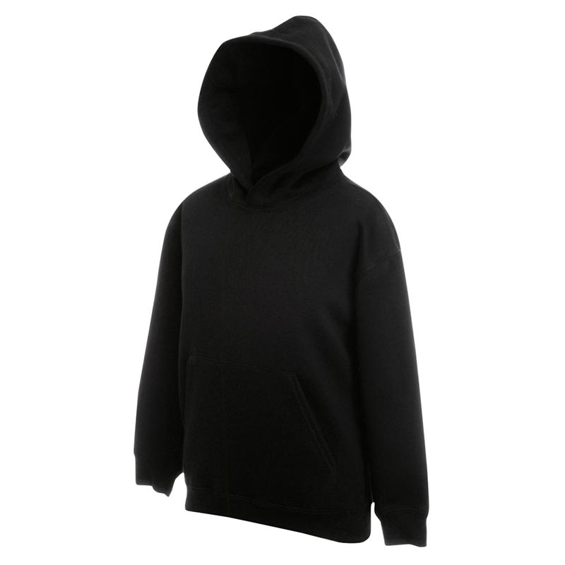 Kids Set-In Hooded Sweatshirt - SSHK-black