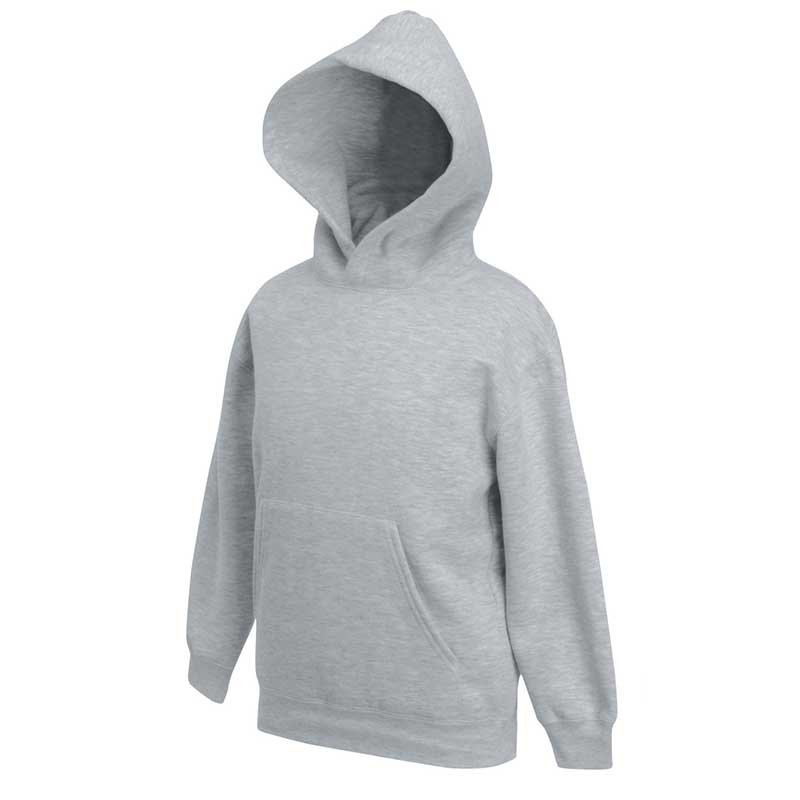 Kids Set-In Hooded Sweatshirt - SSHK-grey