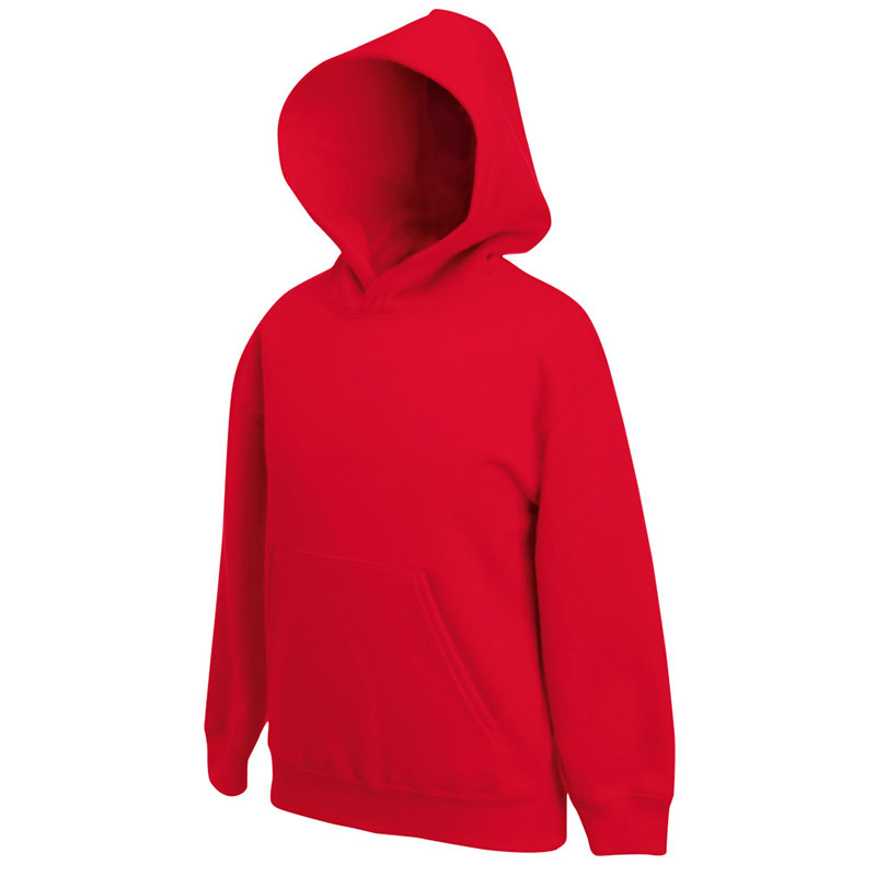 Kids Set-In Hooded Sweatshirt - SSHK-red