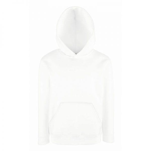 Kids Set-In Hooded Sweatshirt - SSHK-white