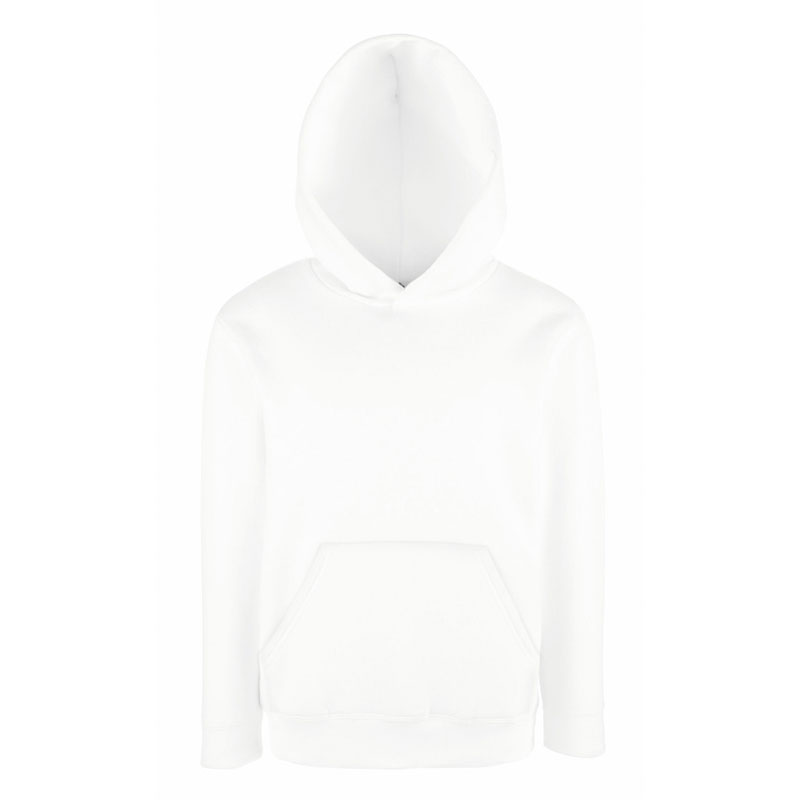 Kids Set-In Hooded Sweatshirt - SSHK-white