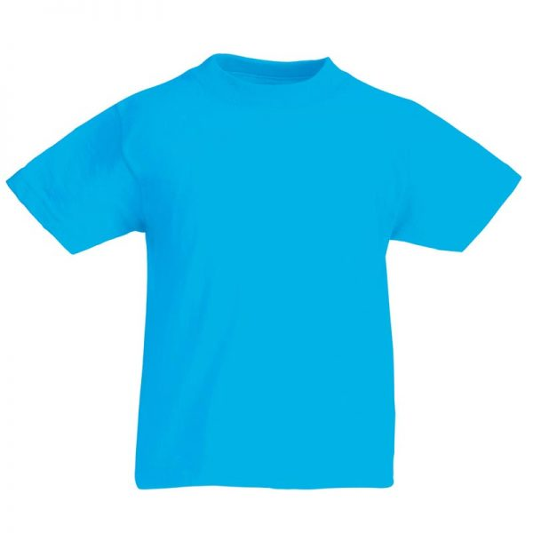 Kids & Toddlers Valueweight Crew T-Shirt - STVK-azure-blue