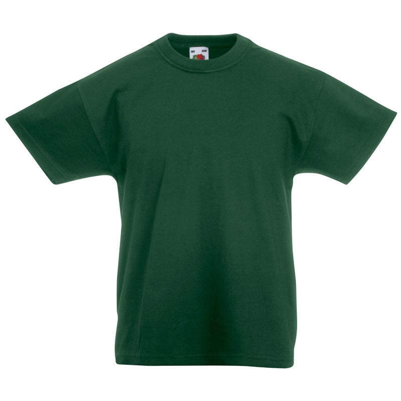 Kids & Toddlers Valueweight Crew T-Shirt - STVK-bottle-green