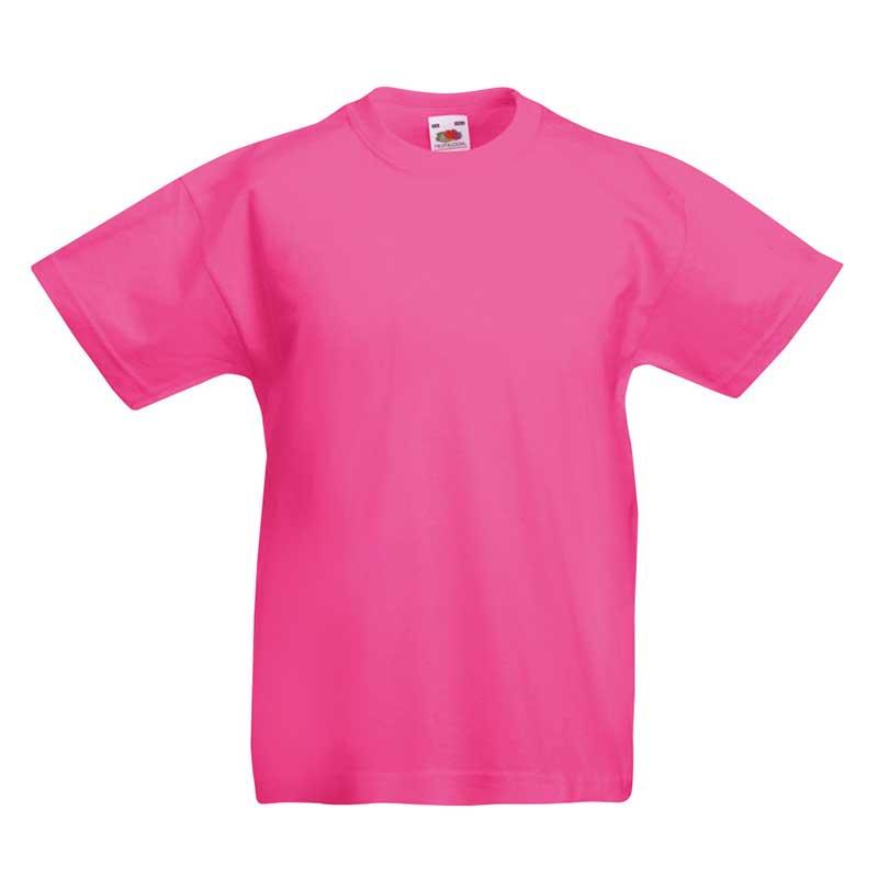 Kids & Toddlers Valueweight Crew T-Shirt - STVK-fuchsia