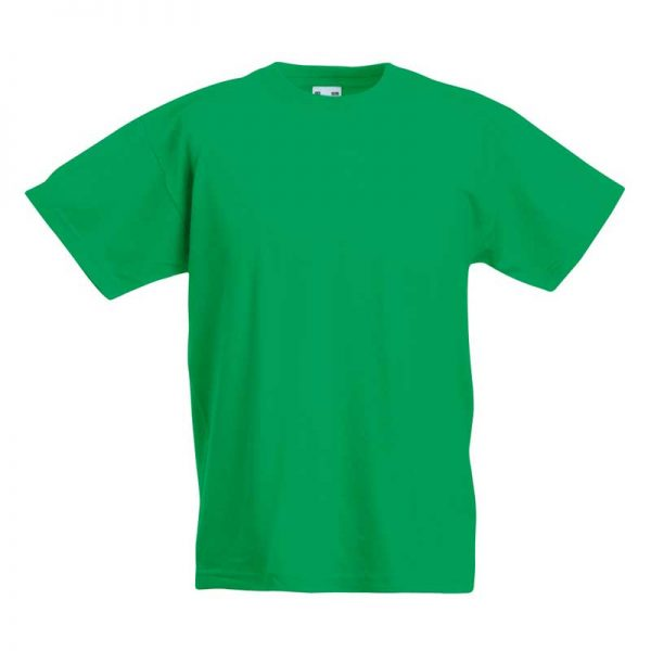 Kids & Toddlers Valueweight Crew T-Shirt - STVK-kelly-green