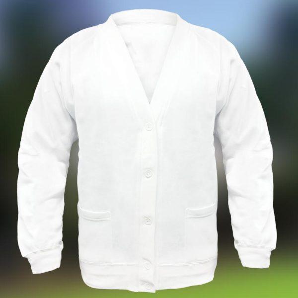 Bowling Sweat Cardigan - TCA01_white