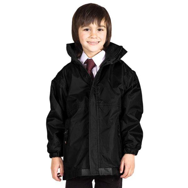 Kids Premium Reversible Waterproof Fleece TFK06-black