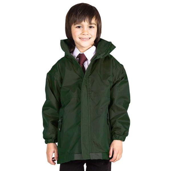 Kids Premium Reversible Waterproof Fleece TFK06-bottle-green