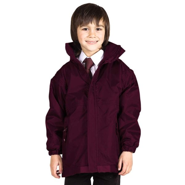Kids Premium Reversible Waterproof Fleece TFK06-burgundy