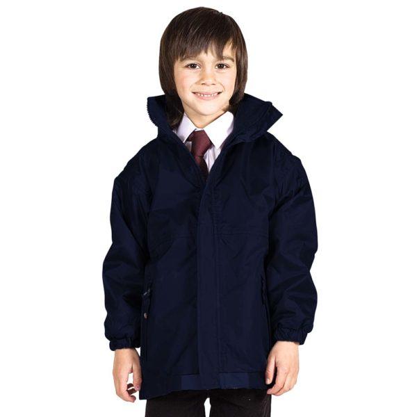 Kids Premium Reversible Waterproof Fleece TFK06-navy