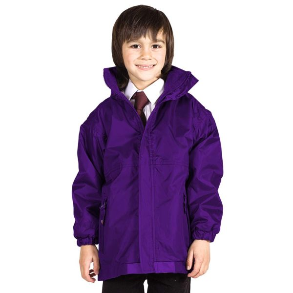 Kids Premium Reversible Waterproof Fleece TFK06-purple